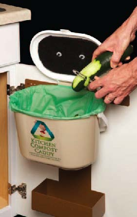 Beautiful Kitchen Compost Caddy